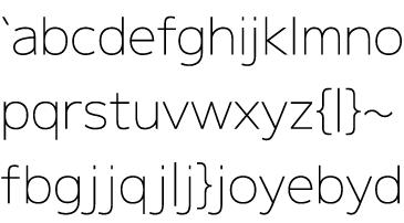 [ M+ 1 thin ] 小文字の字詰めサンプル