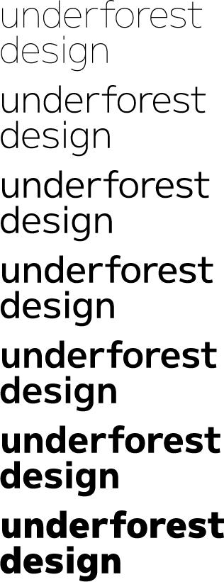 [ M+ thin - black ] underforest design